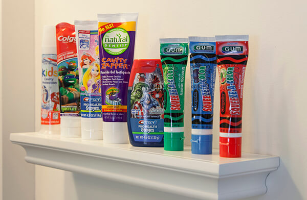 Additional tooth paste selections
