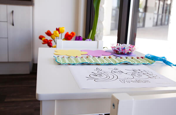 Kids coloring area